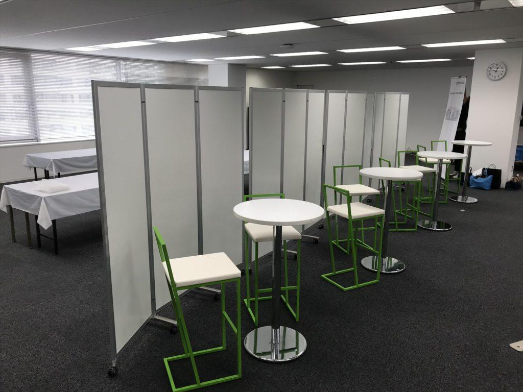 千葉、東京、神奈川で三つ折りパーテーションをお探しならイベント21